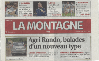 "Agri Rando in the newspaper ""La Montagne"""